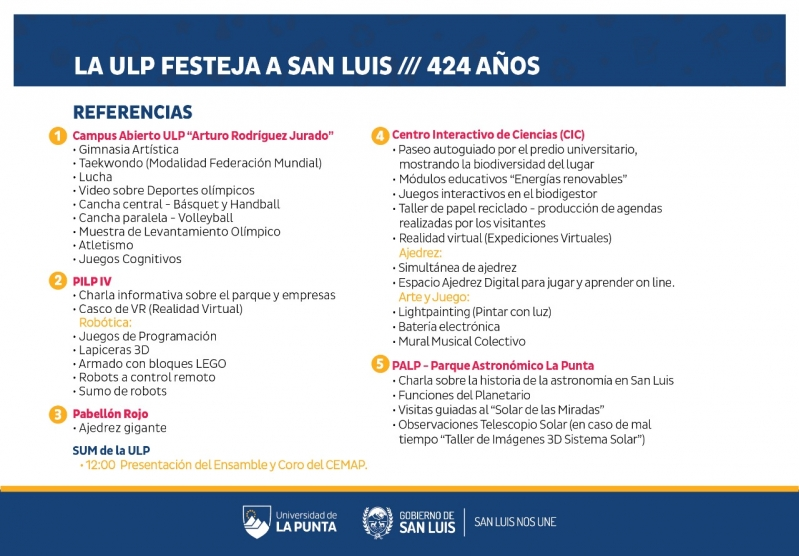 La ULP festeja el 424° aniversario de San Luis