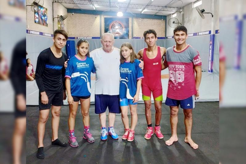 Lucha: deportistas del Campus ULP integran el proceso de la Selección Argentina