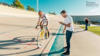 Ciclistas que entrenan en el Campus Abierto ULP tuvieron sus pruebas en el Velódromo Provincial