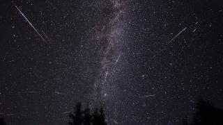 Una espectacular lluvia de estrellas invade el cielo puntano