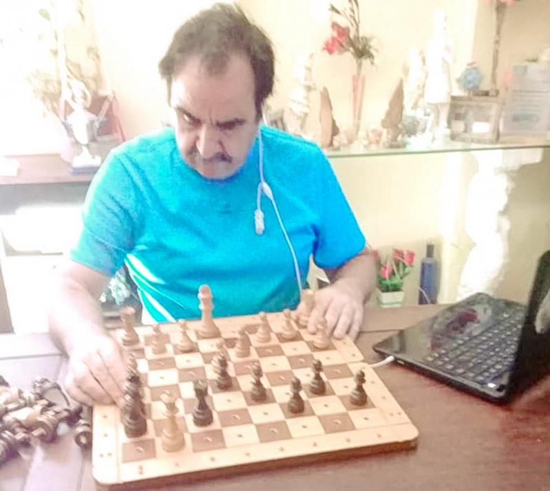 Se disputa el Torneo Provincial Digital para ajedrecistas ciegos y disminuidos visuales