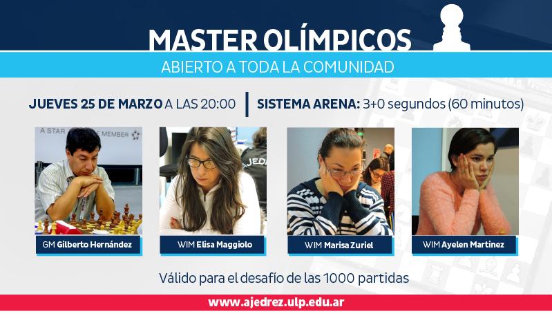 Los olímpicos engalanarán el Torneo Juga con los Maestros de este jueves 25