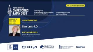 San Luis 4.0 estará presente en el Smart Cities Latam 2020