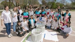 Alumnos de Nueva Galia y Candelaria midieron el perímetro de la Tierra