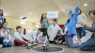 Los Robots revolucionaron a los chicos de  Villa Mercedes y Justo Daract