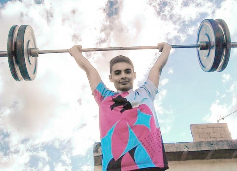 Pablo Chirino, el joven pesista puntano que alimenta su sueño olímpico
