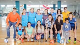 Amine se preparó en el Campus para el Nacional de Futsal Femenino