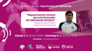 El DT de la Selección Argentina de Taekwondo capacitará sobre entrenamiento