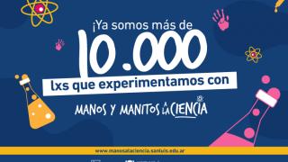Record científico: más de 10 mil estudiantes participan en Manos y Manitos a la Ciencia
