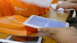 Personal del Hospital de Merlo recibieron sus tabletas