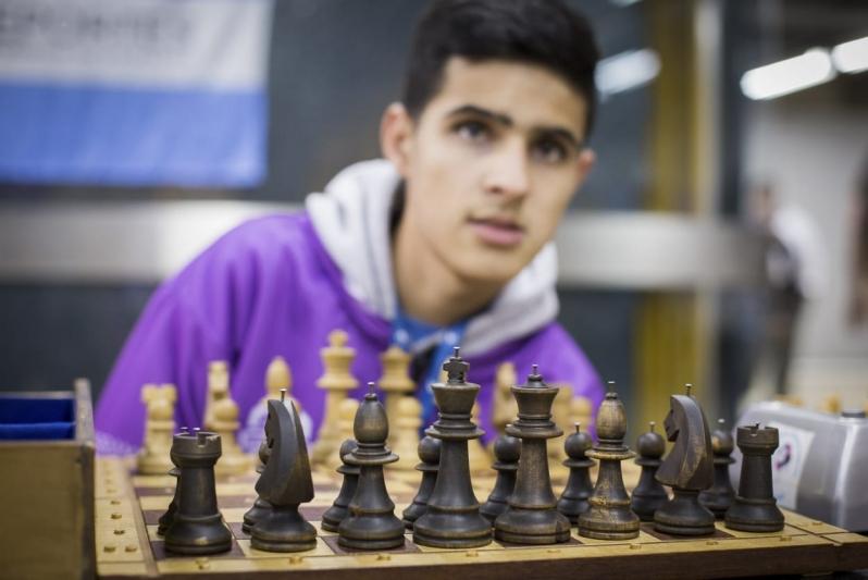 Marcos Ortiz, el  ajedrecista  ciego que la rompe con los convencionales en  los Juegos Nacionales Evita