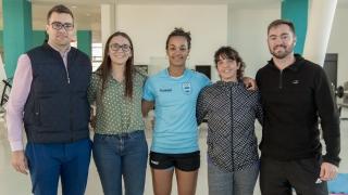 Joana Bolling entrena en el Campus antes de partir a España