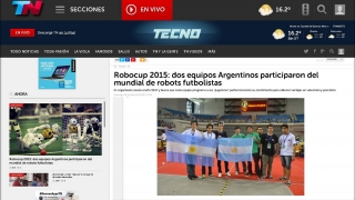 RoboCup 2015: TN destacó la participación sanluiseña en el Mundial de Robótica