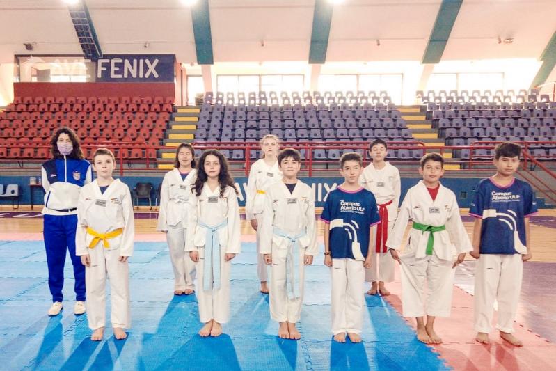 Taekwondo: deportistas del Campus ULP se perfeccionan