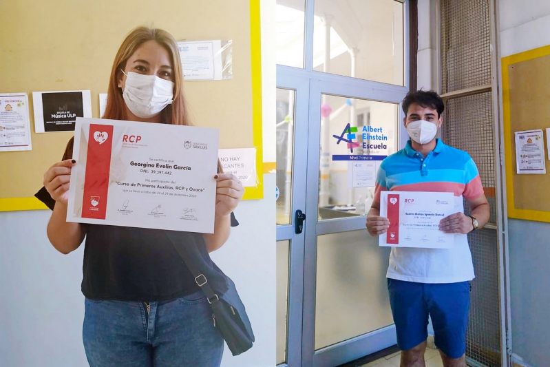 Entregaron los certificados de los cursos de RCP y primeros auxilios