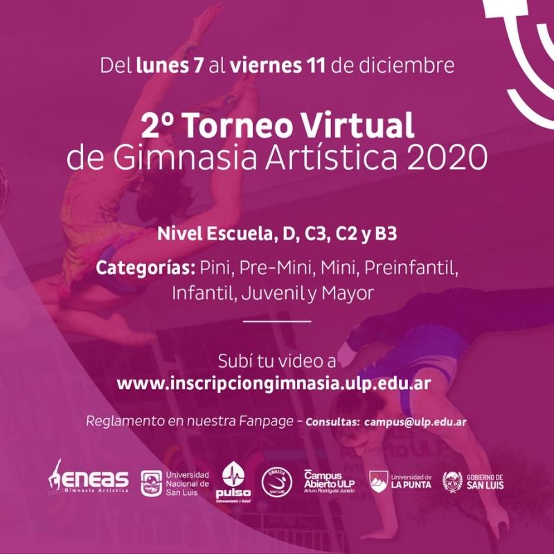 """Se acerca el """"2° Torneo Virtual de Gimnasia Artística 2020"""""""