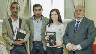 La ajedrecista Ayelén Martínez fue reconocida por el intendente de Villa Mercedes