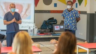 Sesenta personas realizaron un curso de RCP y primeros auxilios
