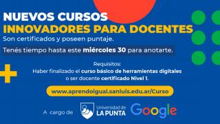 La ULP lanza nuevos cursos de Google para todos los docentes de San Luis