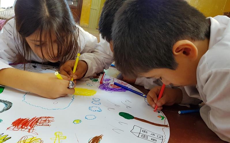 Alumnos de escuelas rurales de la provincia disfrutan de los talleres de Arte y Juego