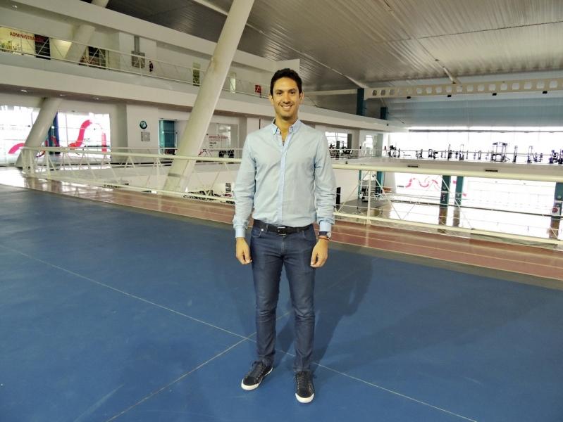 El ex tenista Vasallo Argüello visitó el Campus y proyectó tareas en conjunto con el deporte provincial