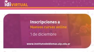 El Instituto de Idiomas ULP presenta la oferta de cursos para el 2021