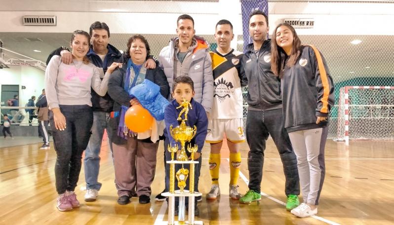 Juan Andrada compartió la final de futsal con sus hermanos
