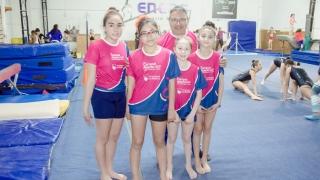 El equipo de gimnasia del Campus tuvo su primera experiencia en el camino de los Juegos Evita