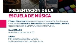 Escuela de Música: la nueva propuesta de la ULP