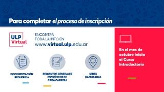 Crece la demanda por las carreras de la ULP Virtual