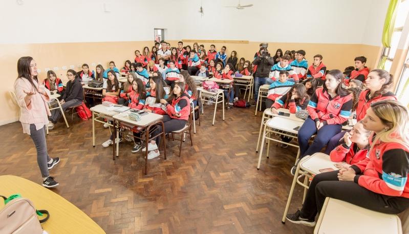 Los alumnos del nivel secundario de la Escuela Juan Pascual Pringles conocieron el test vocacional gratuito