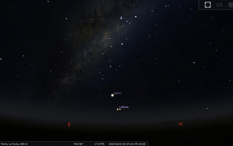 Conjunción de Saturno y Marte: un fenómeno que iluminará el cielo en la última noche de marzo