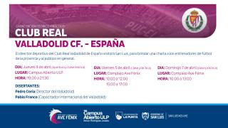 El director deportivo del club Valladolid de España dará una capacitación en el Campus de la ULP