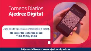 Ajedrez: se desarrollarán tres torneos online de forma diaria