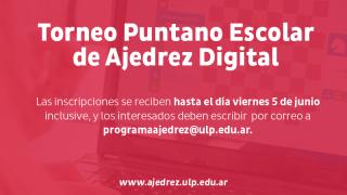 Arranca el primer Torneo Puntano Escolar de Ajedrez Digital