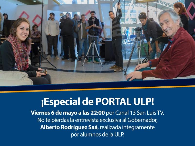 Alberto Rodríguez Saá en una entrevista exclusiva  realizada por alumnos de la ULP