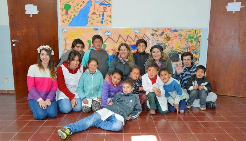 Los chicos de la Escuela Hogar del Valle de Pancanta  exploraron la puntanidad a través del arte