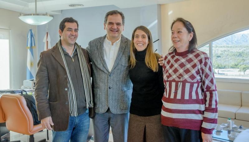 Salino recibió a la Rectora de la Universidad Nacional de los Comechingones
