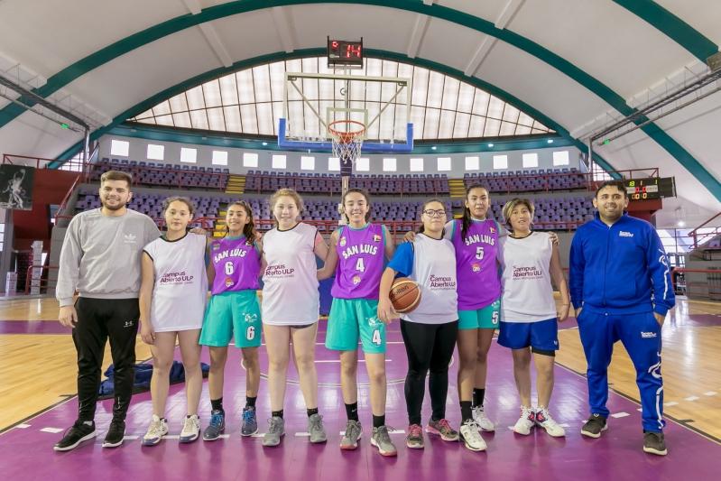 Juegos Evita: el equipo de básquet del Campus jugó la final del 3x3 femenino