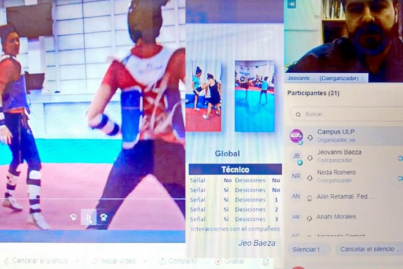 La capacitación sobre entrenamiento de taekwondo fue internacional