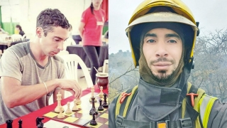 Agustín Ortega mueve sus piezas: ajedrecista y bombero