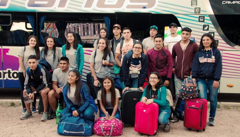 Alumnos de tres parajes de San Luis ya disfrutan de su viaje a Buenos Aires