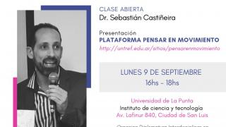 """""""Pensar en Movimiento"""": el doctor en filosofía Sebastián Castiñeira disertará este lunes en el ICT"""