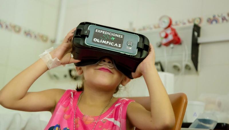 Los chicos de Pediatría del Hospital San Luis vivieron una tarde diferente con las expediciones olímpicas de la ULP