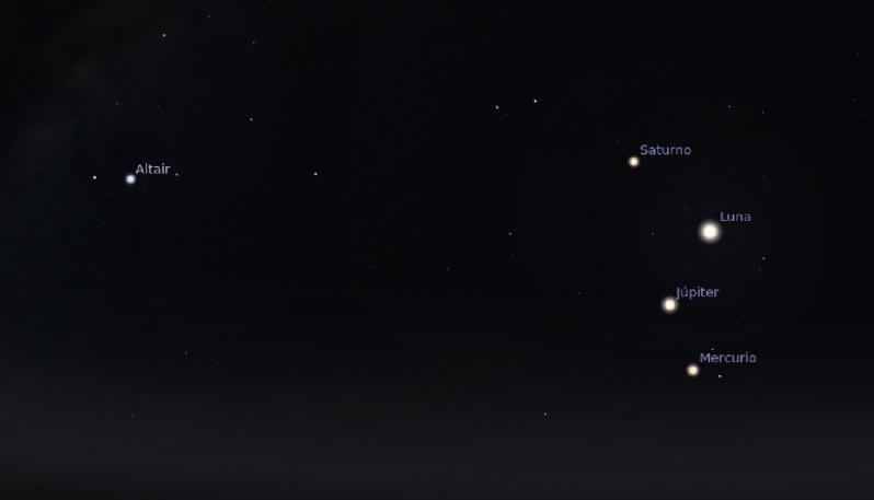 Este martes podrá observarse una alineación planetaria sin telescopios